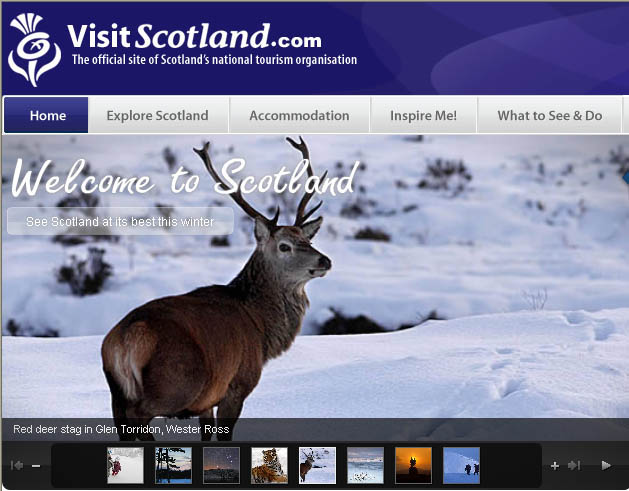 Visit Scotland website
